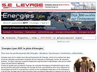 Salon nergies lyon eurexpo en septembre 2017 for Salon eurexpo lyon 2017